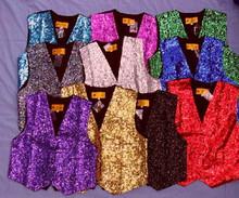 Vest Sequined Solid Colors size S-XL