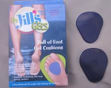 Metatarsal gel cushions Dr Jill stick to foot