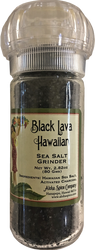 Black Lava Hawaiian Sea Salt 2.82 oz. Refillable Grinder