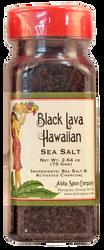 Black Lava Hawaiian Sea Salt 2.64 oz. Plastic Shaker