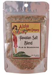 Hawaiian Salt Blend Rub & Seasoning 2.5 oz. Stand Up Pouch
