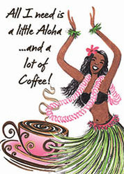 Hula Coffee Magnet