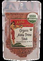 Organic Aloha Prime Steak Rub & Seasoning 2.5 oz. Stand Up Pouch