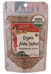 Organic Aloha Seafood Rub & Seasoning 2.4 oz Stand Up Pouch