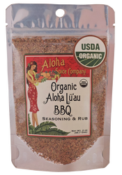 Organic Aloha Lu`au BBQ Rub & Seasoning 2 oz. Stand Up Pouch