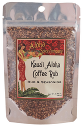 Kauai Aloha Coffee Rub & Seasoning 2.82 oz. Stand Up Pouch
