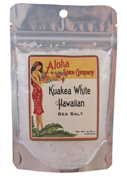 Kuakea White Hawaiian Sea Salt 4.76 oz. Stand Up Pouch