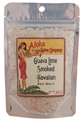 Guava Lime Smoked Hawaiian Sea Salt 2.11 oz. Stand Up Pouch
