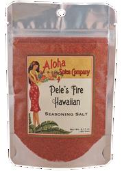Pele's Fire Hawaiian Seasoning Salt 2.11 oz. Stand Up Pouch
