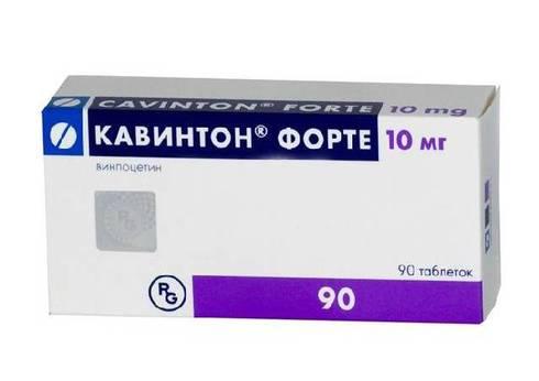 CAVINTON FORTE®, (aka Vinpocetine, Intelectol, Ethyl Apovincaminate)  30pills/pack, 10mg/pill OR 10ampuls/pack, 5mg(5ml)/ampul