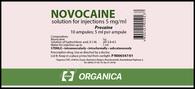 NOVOCAINE®, (aka Procaine) 0,5%, 10 ampuls/pack, 5mg(ml) per ampul