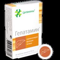 GEPATAMIN®, (Liver bioregulator) 40pills/pack, 155mg/pill