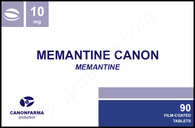 Sample Memantine Canon (Memantin, Axura, Ebixa, Namenda) 10mg, 10 tabs