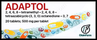 ADAPTOL®, (aka Mebicar, Mebicarum) 20pills/pack, 500mg/pill