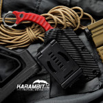 R.S. Knifeworks Red G10 Ringed Spade Prototype (RSKRedRingedSpadeProto)