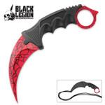 Black Legion Red Spider Web Karambit