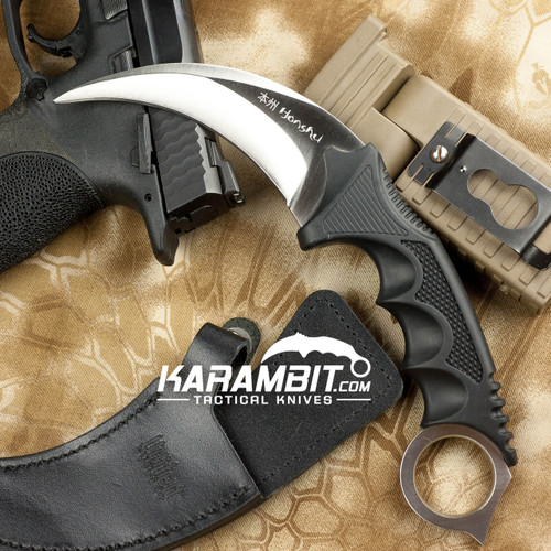 Honshu Silver Karambit w/Boot Sheath