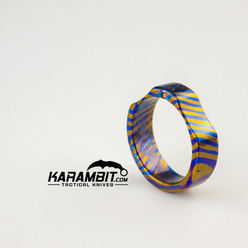 James Coogler Tritium Timascus Ring - Style 2 - Size 11