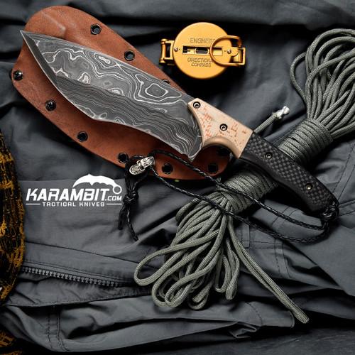 James Coogler's Damascus Mokume CF Prototype Fixed Longbow XL
