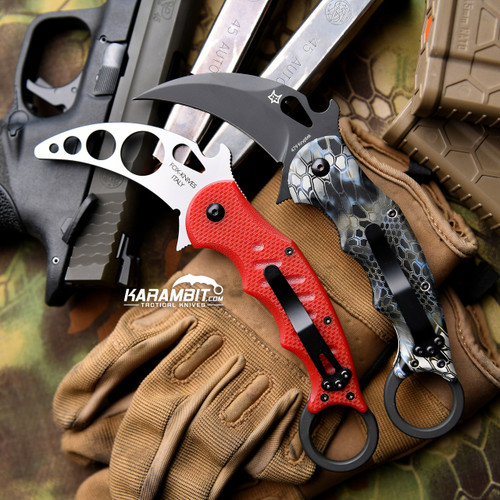 Fox 479 Kryptek Neptune Karambit and Training Karambit (FX479KN + FX479-TK)