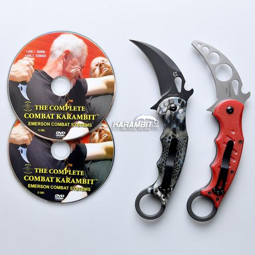 Fox 479 Kryptek Neptune Karambit & DVD Training Package - 3 in 1