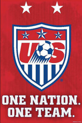 "US NATIONAL TEAM  "" ONE NATION, ONE TEAM""  Official Soccer Poster"