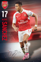 ARSENAL ALEXIS SANCHEZ Official Action Poster 2016, #276