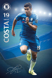 CHELSEA DIEGO COSTA  Official Soccer Player Poster 2015/16-#293