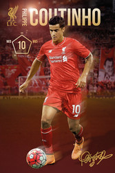 LIVERPOOL COUTINHO Official Soccer Player Poster 2015/16-#309