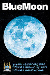 MANCHESTER CITY -BLUE MOON Official Soccer Poster-#673