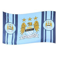 MANCHESTER CITY FC STRIPE Style Licensed Flag 5' x 3'