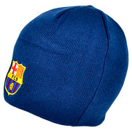 BARCELONA FC Official Navy Beanie Hat