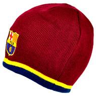 BARCELONA FC Official Burgundy Beanie Hat