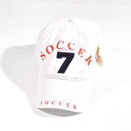 ROBIN RUTH SOCCER-Polo Cap/ #7 White