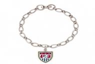 US NATIONAL SOCCER TEAM Chrome Bracelet with Crest