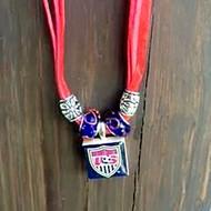 US NATIONAL SOCCER TEAM Ribbon Lifetile Necklace