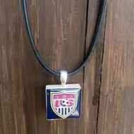 US NATIONAL SOCCER TEAM Lifetile Necklace