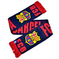 BARCELONA FC Licensed Navy Scarf
