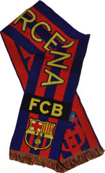 BARCELONA FC Licensed Bufanda Blue/Red/ Yellow Scarf