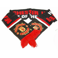 MANCHESTER UNITED FC Licensed Pride of the North Scarf