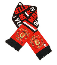 MANCHESTER UNITED FC Licensed Old Trafford 100 Years Scarf