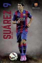 BARCELONA FC   Official Luis Suarez  Poster 14/15-#823