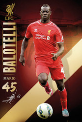 LIVERPOOL FC Official Balotelli Poster 14/15-#153