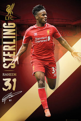 LIVERPOOL FC Official Raheem Sterling Poster 14/15-#156