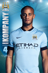 MANCHESTER CITY FC Official Vincent Kompany  Poster 14/15-#121
