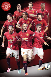 MANCHESTER UNITED FC Official Players Montage Poster 14/15-#169