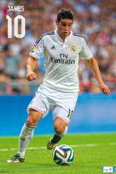 REAL MADRID FC Official James Poster 14/15-#836