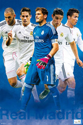 REAL MADRID FC Official Players Montage Poster 14/15-#839
