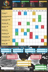COPA America 2016 Licensed Wall Chart
