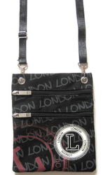 Robin Ruth Black Stamp London Passport Holder